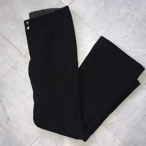 Black Flare Snow Pants